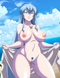 Commission: Too Hot for Esdeath by grimphantom