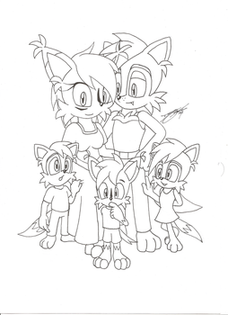 Happy family-SonicGuru Style by siggins21