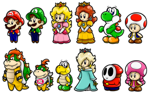 Super Mario Cute Characters 1 by BoxBird
