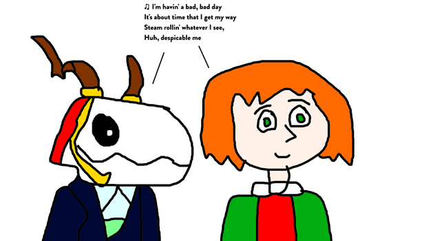 Chise and Elias Sang Despicable Me by MikeEddyAdmirer89