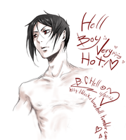 Hell boy is very piping hot by bc-hell