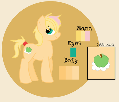 Cloudy Apple (Fluttershy x Apple Jack) Adaptable by theponygaming