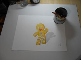 Drawing Ginger biscuit Shrek by DibujarteRiestra