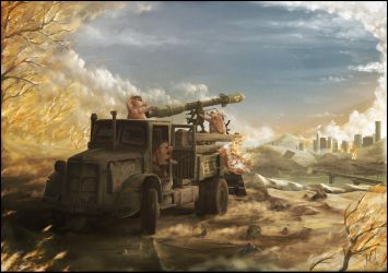 Artillery duel - give and take - duck and cover by maketsu