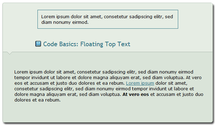Code Basics: Floating Top Text by ginkgografix