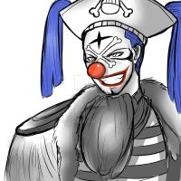 One Piece Sketches: Buggy the Clown by Zuske