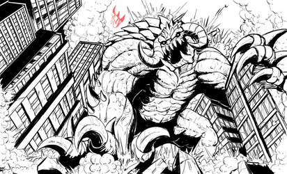 Gurral the Smasher (lines) by Gabe-TKE
