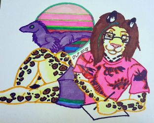 Moongaze the Jaguar-90s Style by ChocolateStarfire