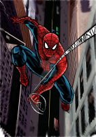 spiderman colored by nic011