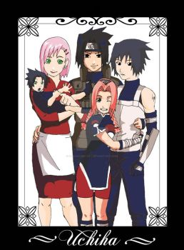 SasuSaku Uchiha Family by Sabaku-no-Cat