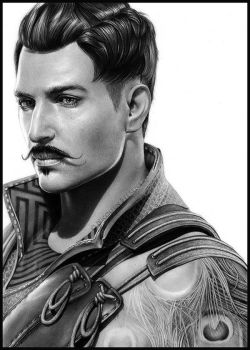 Dorian Pavus - pencil portrait by Cataclysm-X