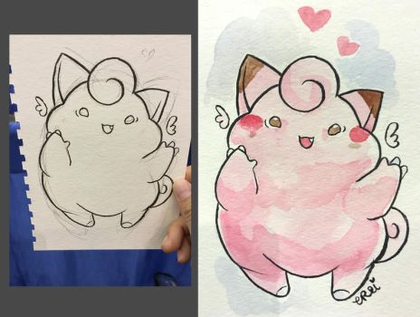 Fat Clefairy by evikted