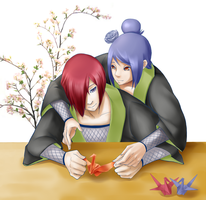 Request 04: Nagato and Konan by haeunee2