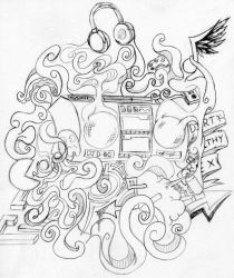 Dj D-Bo Concept sketch by theR3AP3R