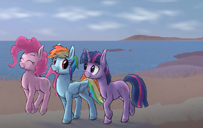 Horse trio by paper-pony