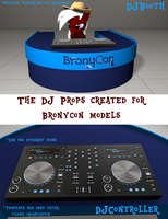 [DL] DJProps - Booth and Controller by The4thaggie
