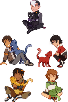 Voltron Chibis by xNighten