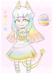 [Adopts]: Rainbow Cake by SimplyDefault
