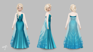 Elsa on Once Upon A Time, Icey Blue Gown by alyssum