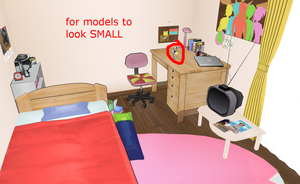 MMD Anime fan room -Figurine sized model stage- by amiamy111