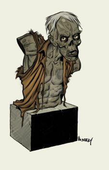An Idea for a Zombie Bust by angryrooster