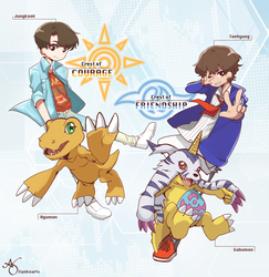 BTS x DIGIMON pt1 by piikoarts