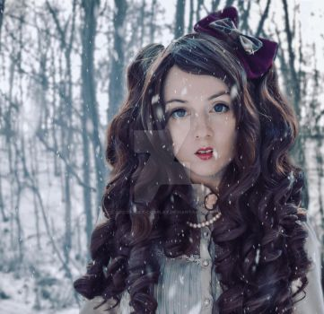 Lolita in the Snow by Cocoa-Cat-Cosplay