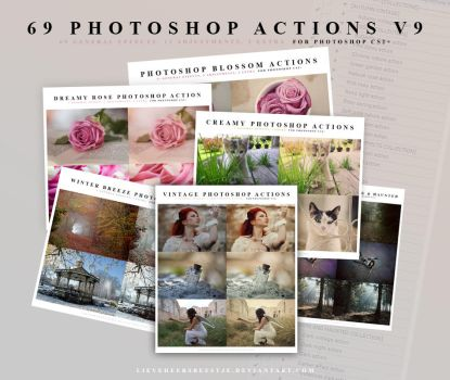 69 Photoshop Action V9 by lieveheersbeestje