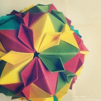 Modular Origami (Cherry Blossom Ball) 2 by MadSoulChild
