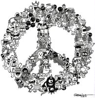 Doodle Peace by asoulofanartist