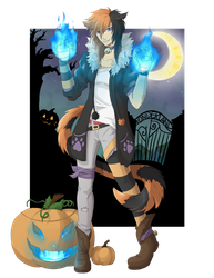 Halloween Cheshire by Mearii-chi