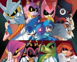 Sonic and MegaMan: 'When Worlds collide' by leonarstist06