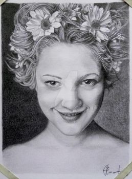 Drew Barrymore by TomHornArt