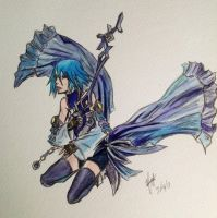 Aqua Watercolor by scarletwilight