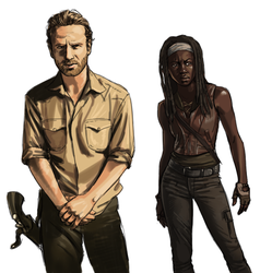 Rick and Michonne by AzaleasDolls