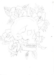 [Zeichnung] Roseskull by KazuyaWhiteForce