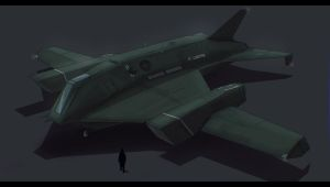 Sci-Fi Fighter/Bomber 2D Commission by AdamKop