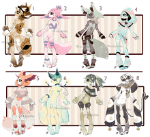 [CLOSED] ADOPT Auction 25 - No-Human set by Piffi-sisters