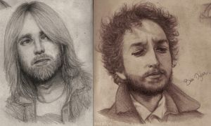 T.P - B.D Portraits in Pencil by dwightyoakamfan