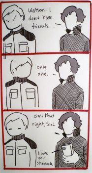BBC Sherlock: just one friend by Graphitekind