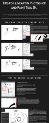 Lineart Tips - Photoshop and Paint Tool Sai by Autlaw