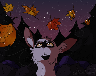 Fiery leaves in the wind by LePetitNazaire
