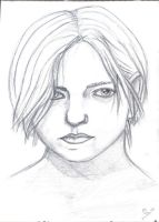 old sketch self portrait by manoatari