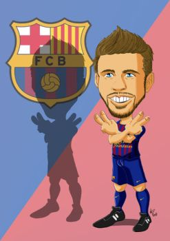 Gerard Pique Caricature by anapeig