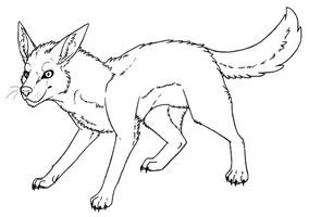 Canine lineart (Free to use) by XiniMonster