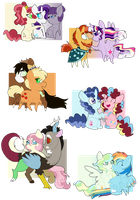 Levioverse- Mane 6 Couples by leviostars