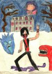 Raziel Rescues Ash From A Haunted House by Linkonpark