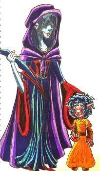 The wicked mother and her child by Violyd