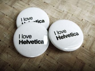 Helvetica badges by dblg