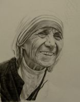 Request: Mother Teresa WIP by brailynne